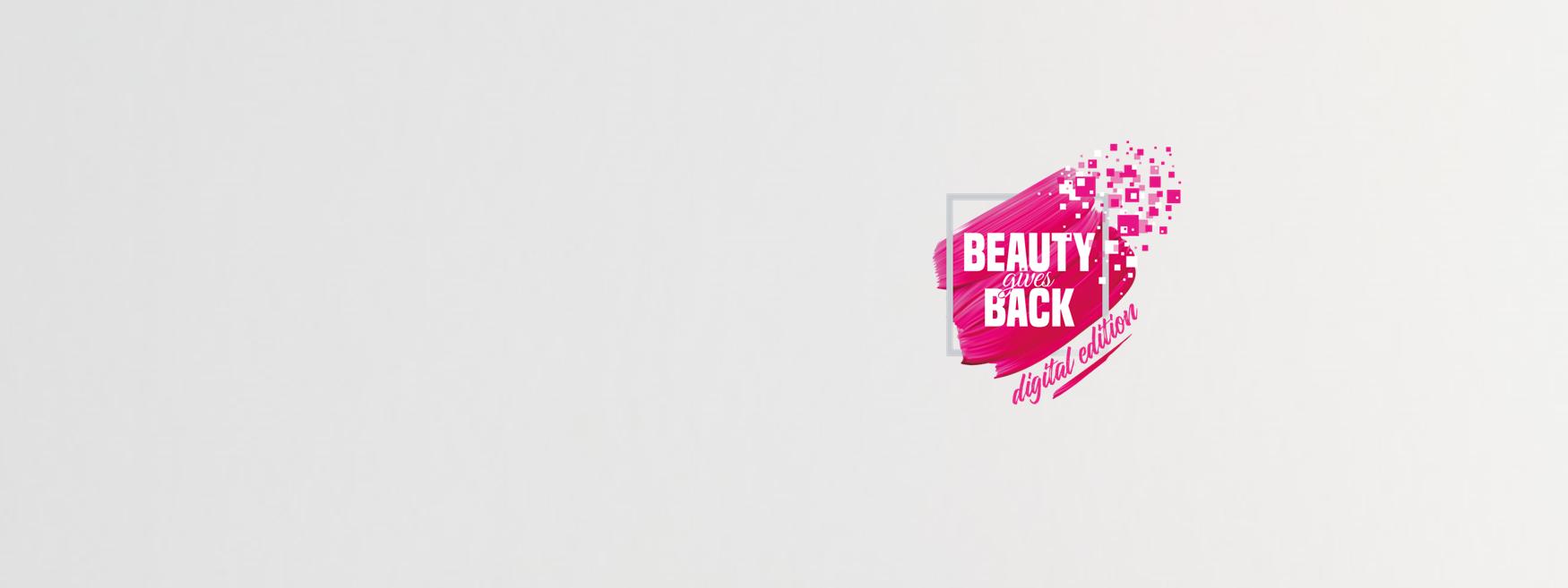 Il logo di Beauty Gives Back Digital Edition